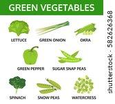 green vegetable collection ...   Shutterstock .eps vector #582626368
