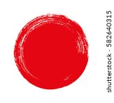 vector brush strokes circles of ... | Shutterstock .eps vector #582640315