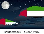 illustration of night clouds ... | Shutterstock .eps vector #582644902