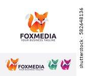 fox media  fox  animal ... | Shutterstock .eps vector #582648136