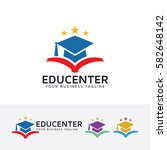 education center  academy ... | Shutterstock .eps vector #582648142