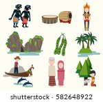 southern thailand travel... | Shutterstock .eps vector #582648922