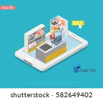 supermarket and store stuff ... | Shutterstock .eps vector #582649402