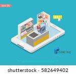 supermarket and store stuff ... | Shutterstock .eps vector #582649402