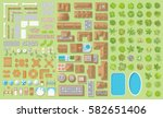 set of landscape elements.... | Shutterstock .eps vector #582651406