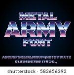 retro future military army sci... | Shutterstock .eps vector #582656392