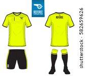 set of soccer kit or football... | Shutterstock .eps vector #582659626
