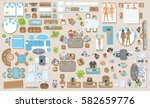 vector set. furniture and the... | Shutterstock .eps vector #582659776