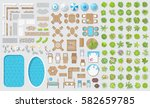 vector set for landscape design.... | Shutterstock .eps vector #582659785