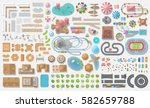 set of landscape elements.... | Shutterstock .eps vector #582659788