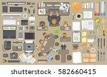 vector set. workspace... | Shutterstock .eps vector #582660415