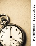 antique pocket watch  vintage... | Shutterstock . vector #582663712