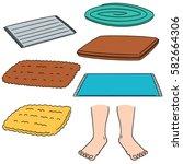 vector set of foot wipe | Shutterstock .eps vector #582664306