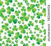 patrick clover seamless bright... | Shutterstock .eps vector #582664426