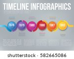 colorful wobble template... | Shutterstock .eps vector #582665086