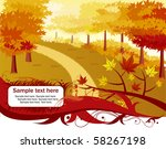autumn alley with banner | Shutterstock .eps vector #58267198