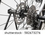 close up of a bicycle wheel... | Shutterstock . vector #582673276