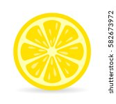 lemon slice vector icon...