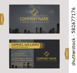 business card design with... | Shutterstock .eps vector #582677176