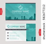 business card design with... | Shutterstock .eps vector #582677212