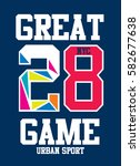 new york great game t shirt... | Shutterstock .eps vector #582677638