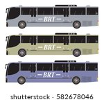 set of bus rapid transit or brt ... | Shutterstock .eps vector #582678046