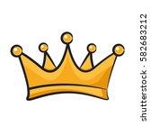 cartoon crown symbol | Shutterstock .eps vector #582683212