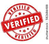verified rubber ink vector... | Shutterstock .eps vector #582686488
