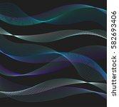 blue digital waves. abstract... | Shutterstock .eps vector #582693406