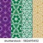 set of seamless vector patterns....   Shutterstock .eps vector #582695452