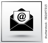 mail sign icon  vector... | Shutterstock .eps vector #582697315