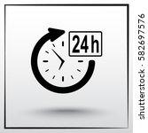 24 hours customer service sign... | Shutterstock .eps vector #582697576