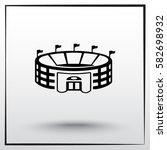 stadium sign icon  vector... | Shutterstock .eps vector #582698932