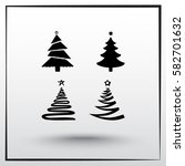 christmas tree sign icons ... | Shutterstock .eps vector #582701632