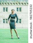 african american businesswoman... | Shutterstock . vector #582705232
