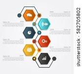 infographic design template...   Shutterstock .eps vector #582705802