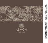 background with lemon and lemon ... | Shutterstock .eps vector #582708226