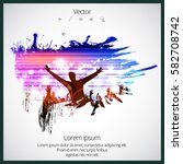 party vector illustration with... | Shutterstock .eps vector #582708742