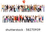 2 large groups. groups of... | Shutterstock . vector #58270939