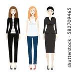 beautiful woman dresscode....   Shutterstock .eps vector #582709465