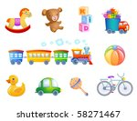 set of 10 vector toys for kif. | Shutterstock .eps vector #58271467