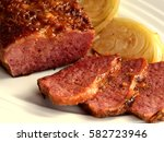 corned beef and cabbage ... | Shutterstock . vector #582723946