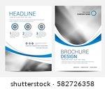 brochure template flyer design... | Shutterstock .eps vector #582726358