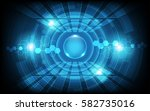 circle wave and hexagonal... | Shutterstock .eps vector #582735016