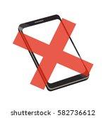 vector image of a smartphone... | Shutterstock .eps vector #582736612