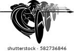 spartan army formation | Shutterstock .eps vector #582736846