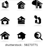 housing and real estate icons | Shutterstock .eps vector #58273771