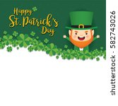 17 march. st. patrick's day... | Shutterstock .eps vector #582743026