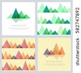 abstract mountains in geometric ... | Shutterstock .eps vector #582747892