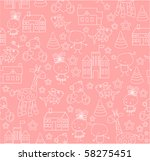 Stock vector seamless baby background 58275451